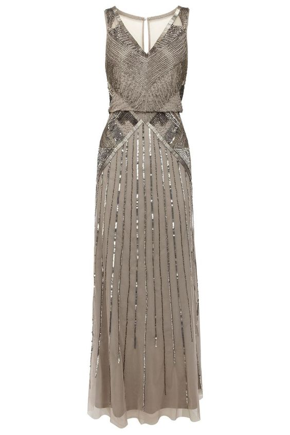 Love this grey dress for a bridal a party, it's classy, a great neutral color and can definitely be worn for different occasions!