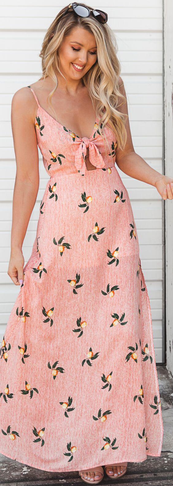 Adorable Peach Summer Dress