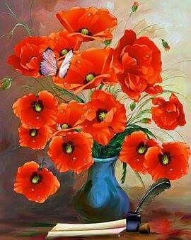 Pin By Halide On Preferiti Floral Wall Art Flower Painting Flower Art