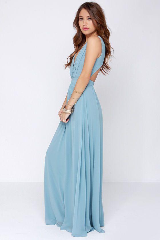 Light Blue Maxi Dresses