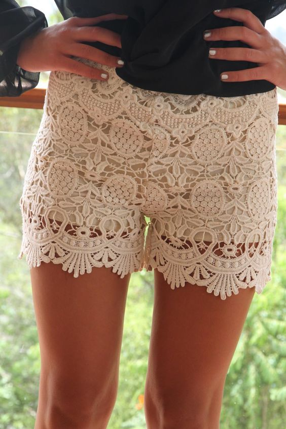 lace <3 cutttee I WILL buy a pair of lace shorts this year and stop just looking at them every time i go shopping!