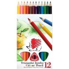 Ico süni 12 darabos vastag háromszög alakú színes ceruza készlet - Színes…