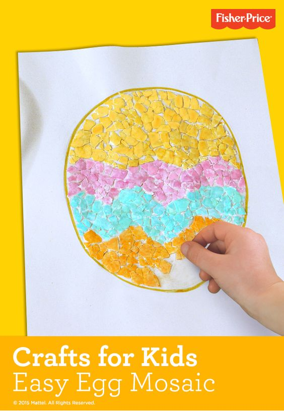 Easy crafts for kids! They can decorate this festive Easter egg all on their own.