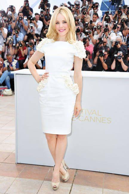 Rachel McAdams in white Maxime Simoens