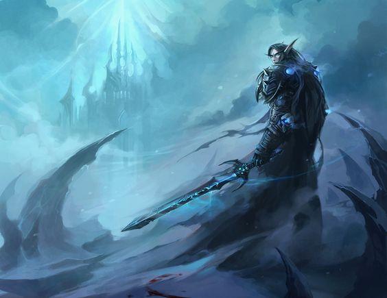 """World of Warcraft ~ """"Going home for the holidays"""", j'ai un petit faible pour ce beau Chevalier de la mort *^* ~ by sandara.deviantart.com on @deviantART"""
