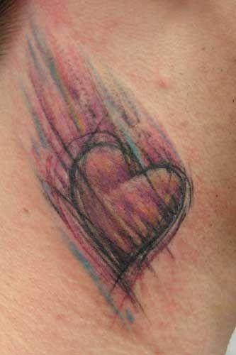 moving heart tattoo
