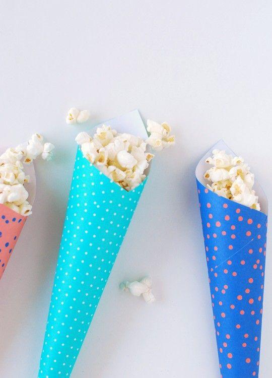 Popcorn Cone Favors