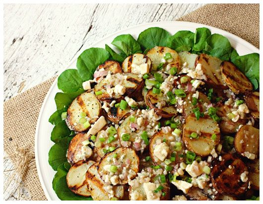 Grilled blue cheese potato salad