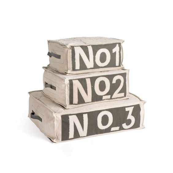 Numero Poufs Set S/3