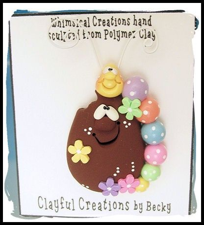 Becky's Polymer Clay Chocolate Egg with от clayfulcreations