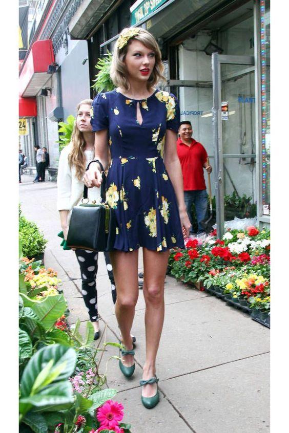Vestido azul de Taylor