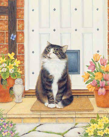 Cat on Mat Art of Anne Mortimer