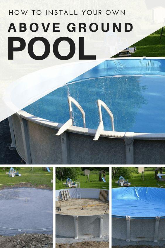 How to install an above ground pool yourself #pool #abovegroundpool #backyardideas #backyard