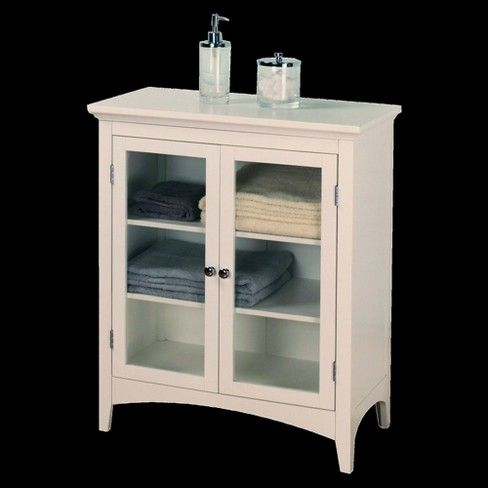 Madison Avenue 2 Door Floor Cabinet White Elegant Home Fashions House Styles Elegant Homes Cabinet