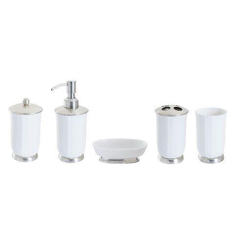 Stites 5 Piece Bathroom Accessory Set Rosalind Wheeler Bathroom Accessories Sets Bathroom Accessories Bathroom