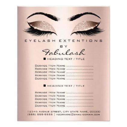 Makeup Artist Beauty Salon Glitter Flyer Pink Rose Zazzle Com Beauty Salon Eyelash Salon Lashes Beauty