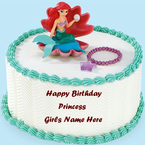 Write Princess Girls Name On Birthday Wishes Beautiful Name Cakes