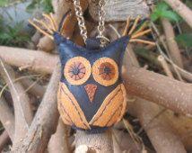 Keychain, charm,bag charm, owl, leather keychain, leather owl, owlcharm, accessories for bag, leather accessories, dark blue