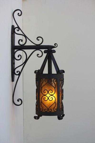 7135 1 Old World Spanish Style Outdoor Iron Wall Lantern Light Wrought Iron Chandeliers Iron Chandeliers Wrought Iron Light Fixtures