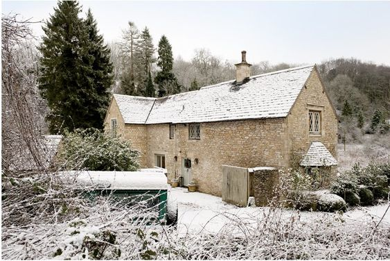 Beautiful the winter and cottage in on pinterest for French countryside homes