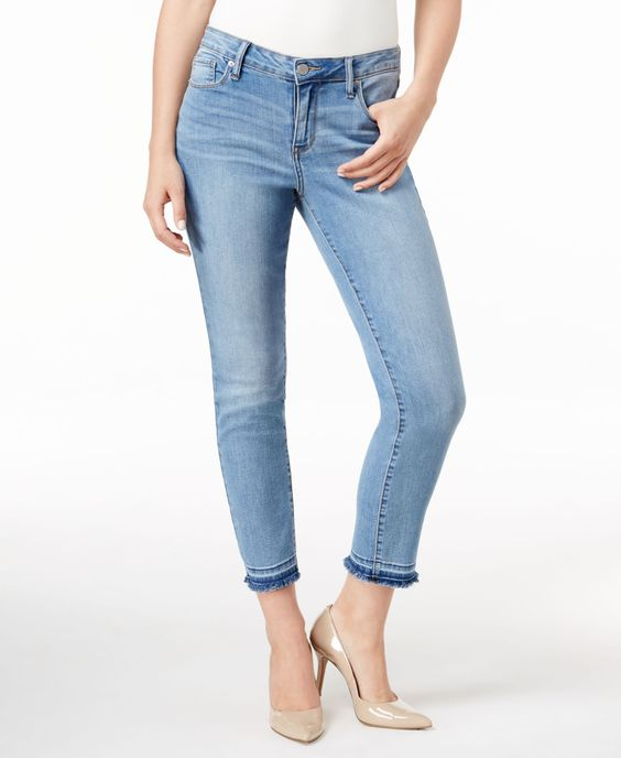 Calvin Klein Jeans Released Hem Skinny Jeans