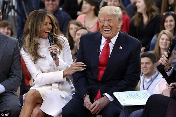 Donald Trump, his wife and children sat down for a town hall meeting on the…