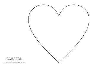 Dibujo del corazón para imprimir, colorear y pintar  San ...