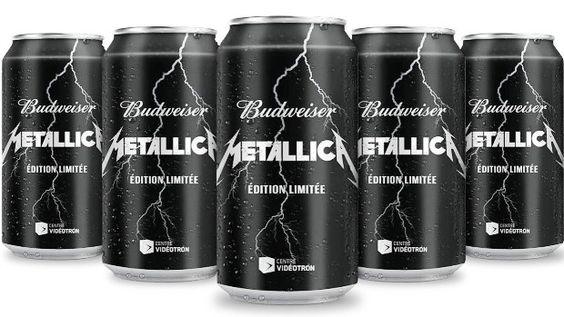 """Conheça a Budweiser Metallica, a cerveja """"originária do rock""""."""