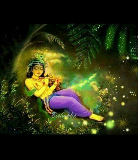 Playing divine flute