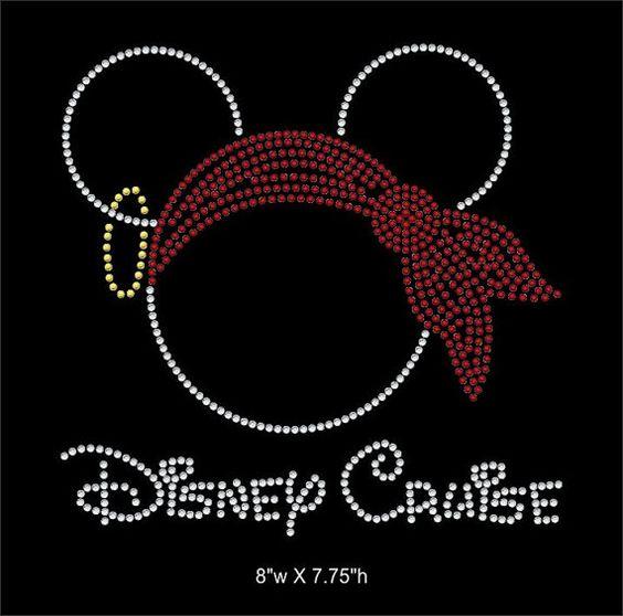Disney Cruise Mickey mouse rhinestone transfer,