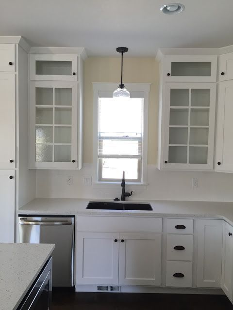 Ppg Delicate White Cabinets And Trim Ppg Navajo White Walls Andrea West Design Blog Kitchen Cabinet Colors Kitchen Renovation Cabinets To Ceiling