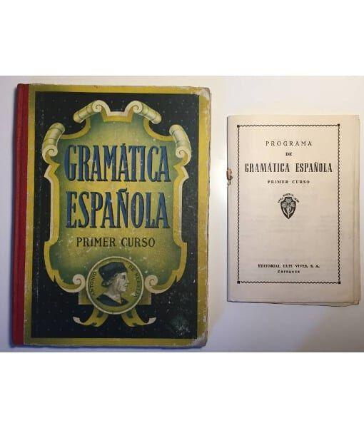 Gramática Española Primer Curso Edelvives Editorial Luis Vives Zaragoza 1954 Libros Escolares Antiguos Cartillas Escolares Antiguas Libros Escolares