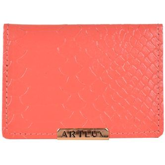 Porta Cartão Artlux com Espelho Coral