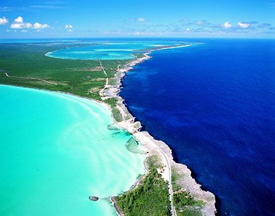The Bahamas.  The ocean there is a color blue I had never seen before.
