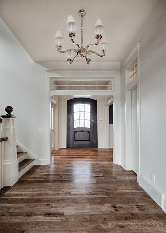 Main Floor Flooring Ideas. Hardwood Flooring Ideas. The hardwood flooring in the main floor is hickory. #MaindFloorFlooring #HickoryHardwoodFloors #HardwoodFloors  Veranda Estate Homes & Interiors