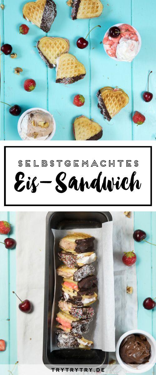 Ein Rezept für günstiges, einfaches, selbstgemachtes Eis OHNE Eismaschine! Mit einem Zusatzrezept für Eis-Sandwiches!