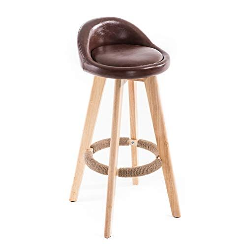 Di Dani 360 Swivel Bar Stool Modern Round Pu Leather With Back