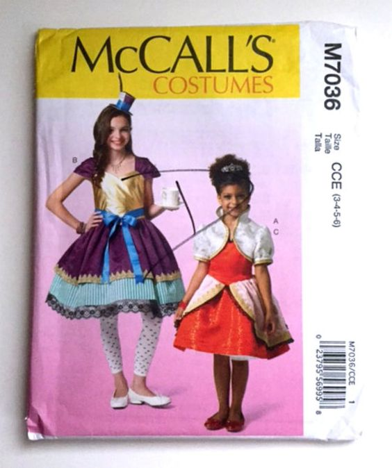 McCalls M7036 Sewing Pattern Princess Halloween Costumes Dress Up ...