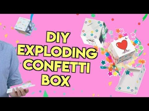 fresh styles on feet shots of best service DIY EXPLODING CONFETTI BOX! POPPING CARD BOOMF BOMB GIFT ...