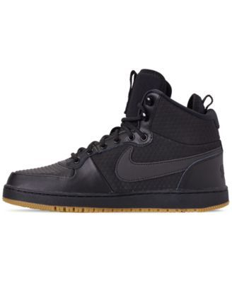 Nike Men S Ebernon Mid Winter Casual Sneakers From Finish Line Black 9 Sneakers Mens Winter Fashion Casual Sneakers