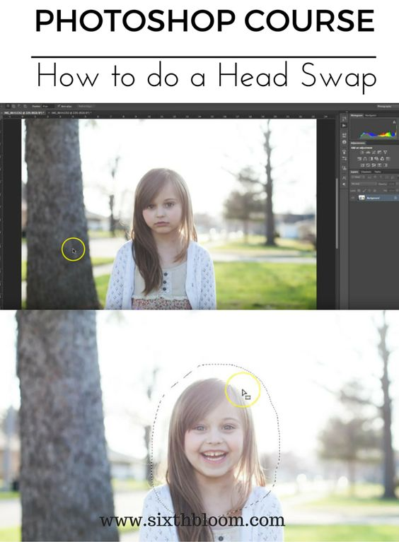 How to do a Head Swap in Photoshop . Join our FREE photoshop mini online course and learn how to do a basic head swap in photoshop editing Edit your picture
