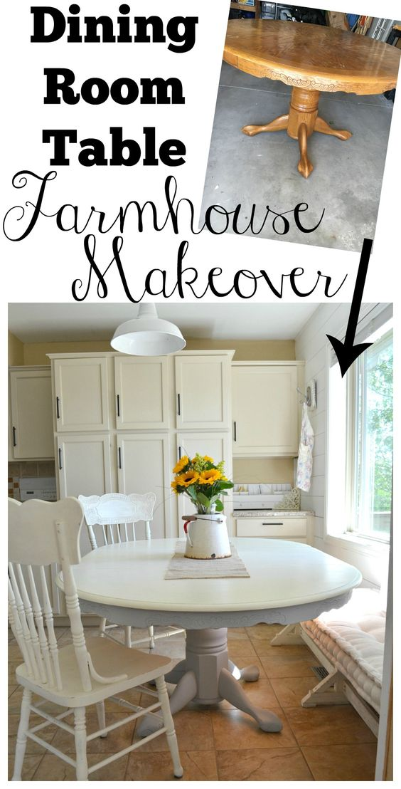 Dining Room Table Farmhouse Makeover
