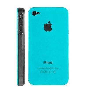 Light Blue Replicase Hard Crystal Air Jacket Case for AT iPhone 4 4G 16GB 32GB GSM (Wireless Phone Accessory)