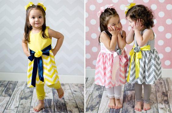 GroopDealz | Little Bella Chevron Dress