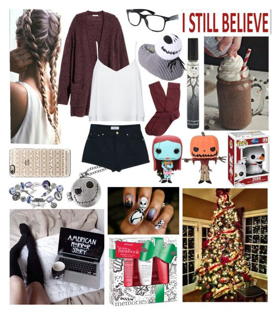 """""""Being lazy BUT Christmassy"""" by wannabefashionguru on Polyvore featuring H&M, Retrò, MANGO, Sixtrees, Casetify, The Bradford Exchange, Disney, Alice + Olivia and Brooks Brothers"""