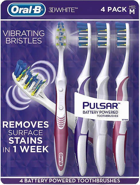 Costco Offers 4 Pack Oral B Pulsar Battery Powered Toothbrush For