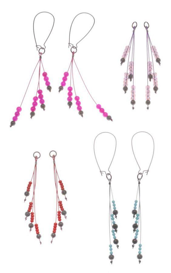 Free Tutorial Interchangeable Gunmetal Colorburst Earrings Project