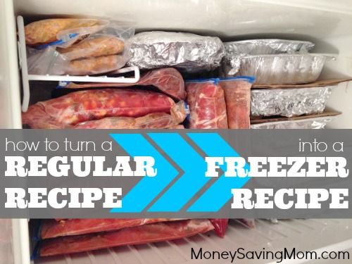How to Turn a Regular Recipe into a Freezer Recipe | Money Saving Mom®