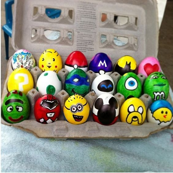 hand painted easter egg ideas minion eggs for easter cartoon easter eggs for kids easter. Black Bedroom Furniture Sets. Home Design Ideas
