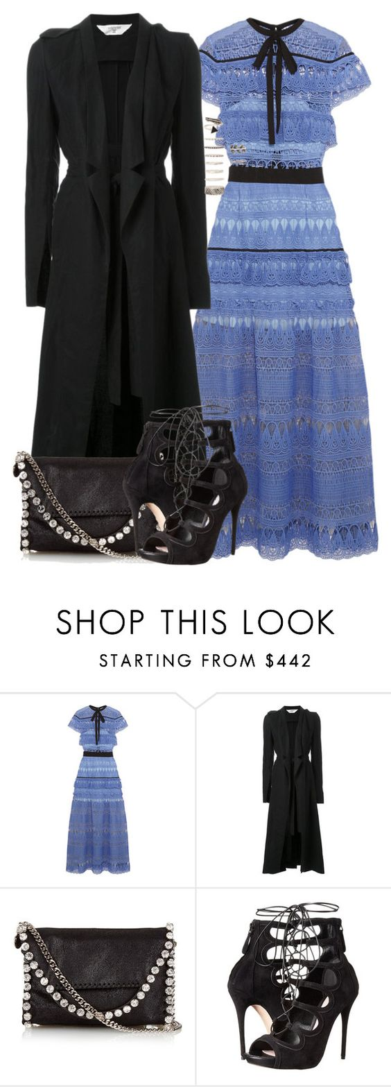 """""""Untitled #2294"""" by briarachele ❤ liked on Polyvore featuring self-portrait, Kitx, STELLA McCARTNEY, Alexander McQueen and Forever 21"""